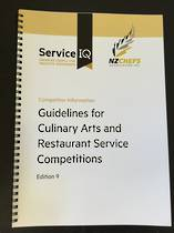 Guidelines for Culinary Arts & Restaurant Service Competitions - Competitor Information